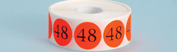 Cold Temp Number Labels