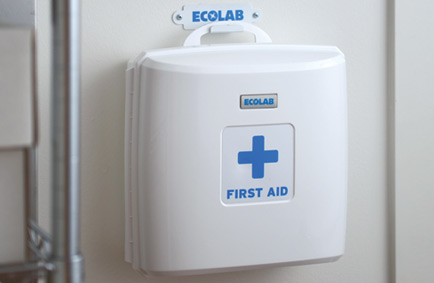 compact commercial first aid cabinet