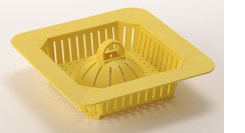 durable strainer to protect commercial floor drains
