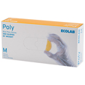 Ecolab Blue Poly Gloves: Medium Case